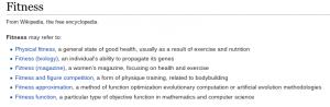 Fitness - Wikipedia