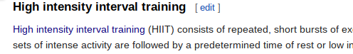 Wikipedia High-Intensity Interval Training