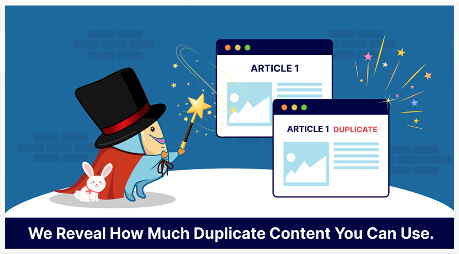 how much duplicate content you can use featured image