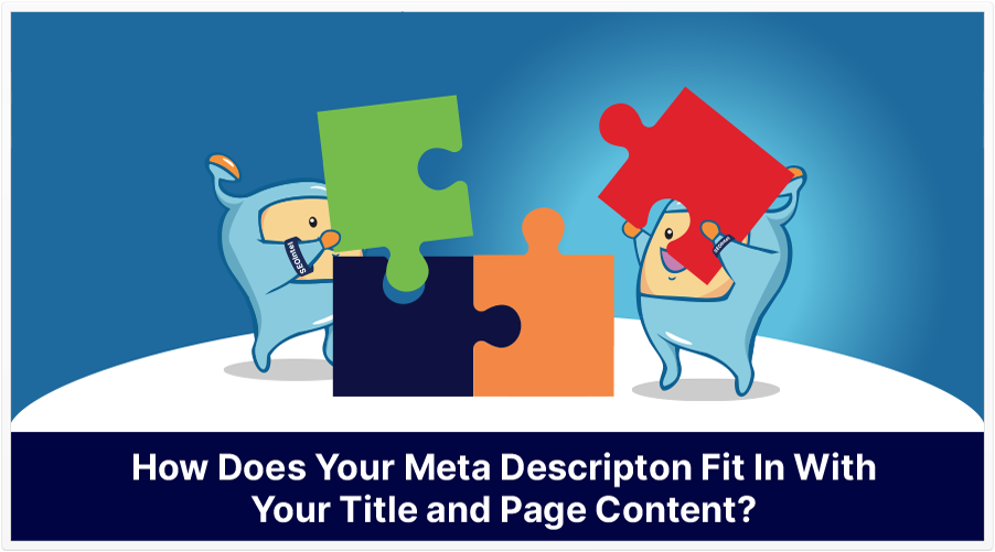 meta description and page content